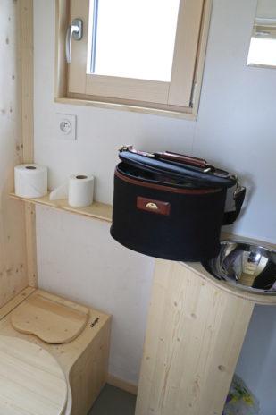 La salle d'eau de la tiny house