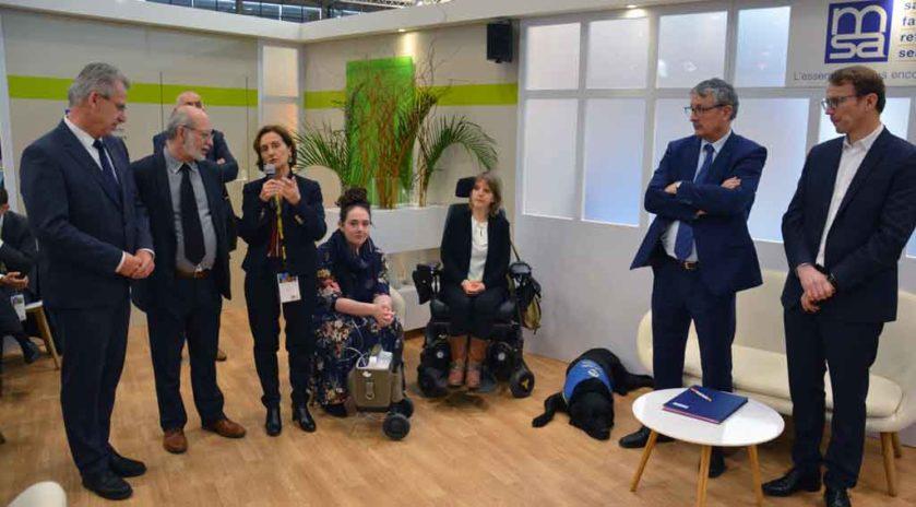 Handicap : UnilaSalle et la MSA s'unissent Le 28 février, les représentants de l'école d'ingénieurs UniLaSalle et la MSA ont profité de leur présence au salon de l'agriculture Porte de Versailles à Paris afin de renouveler leur engagement pour l'intégration des étudiants en situation de handicap pour quatre années. Explications.