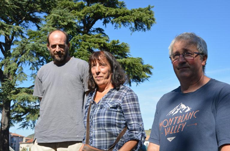 Olivier Hémard, Marie Fourel et Jean-Pierre Vallet, agriculteurs dans l'Ardèche, ont bénéficié du programme de réhabilitation de logement.