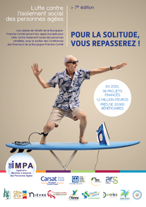 Affiche de l'appel à projets du GIE IMPA «Prévenir et lutter contre l'isolement social des personnes retraitées»