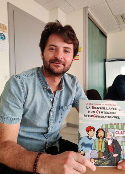 BCG cartoon « La tuberculose fait partie des maladies dont on pense à tort qu'elles sont éradiquées en France. Les populations défavorisées, précaires, migrantes d'Afrique subsaharienne et d'Amérique du Sud sont les plus touchées. C'est pourquoi nous ciblons en priorité les structures d'accueil de population étrangère. Nous mettons également à contribution les délégués MSA pour faire passer le message. Une version de la BD dans plusieurs langues sera bientôt disponible via QR code », explique Clément Previtali, directeur de l'Asept Franche-Comté/Bourgogne.
