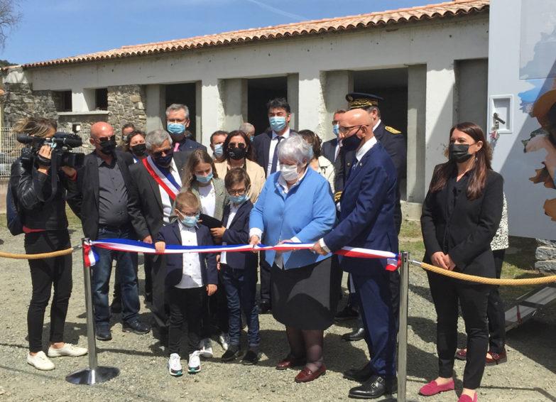 Inauguration de l'agence et du bus France services de la MSA de la Corse avec Jacqueline Gourault