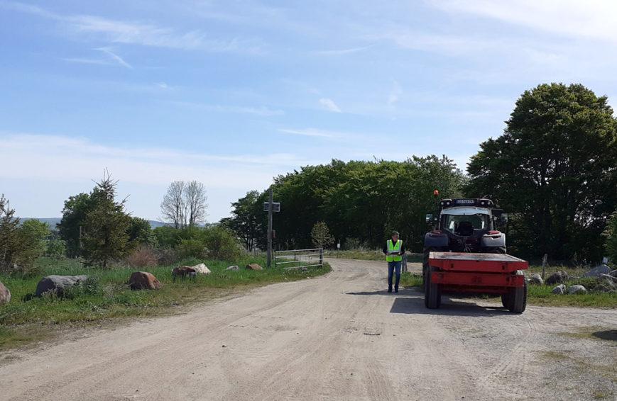 Nasbinals - Vérification sécurité tracteur