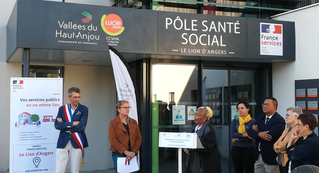 Inauguration de l'espace France services du Lion-d'Angers. Discours de la sous-préfète.